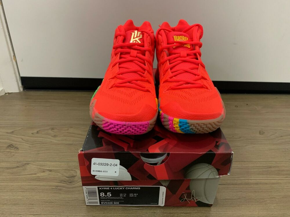 d22da26fb3f5 BRAND NEW Kyrie 4 Cereal Pack Lucky Charms Bright Crimson Multi-Color BV0428 -600