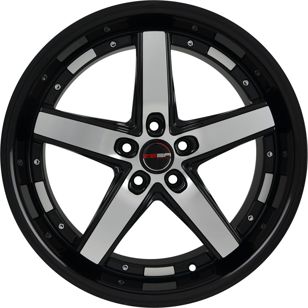 4 GWG Wheels 18 Inch Black Machined DRIFT Rims Fits ACURA