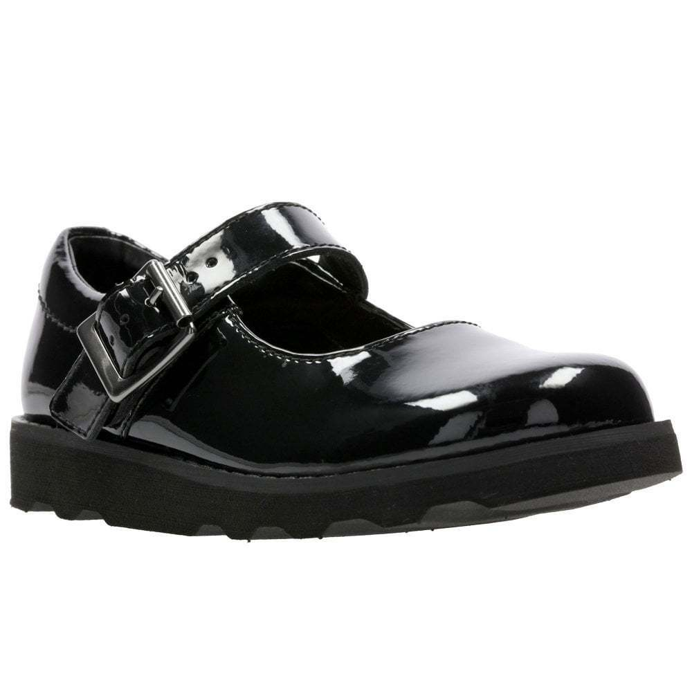 d3349c5564f Clarks Crown Honor Girls Infant Leather Mary Jane Chunky Sole Shoes | eBay