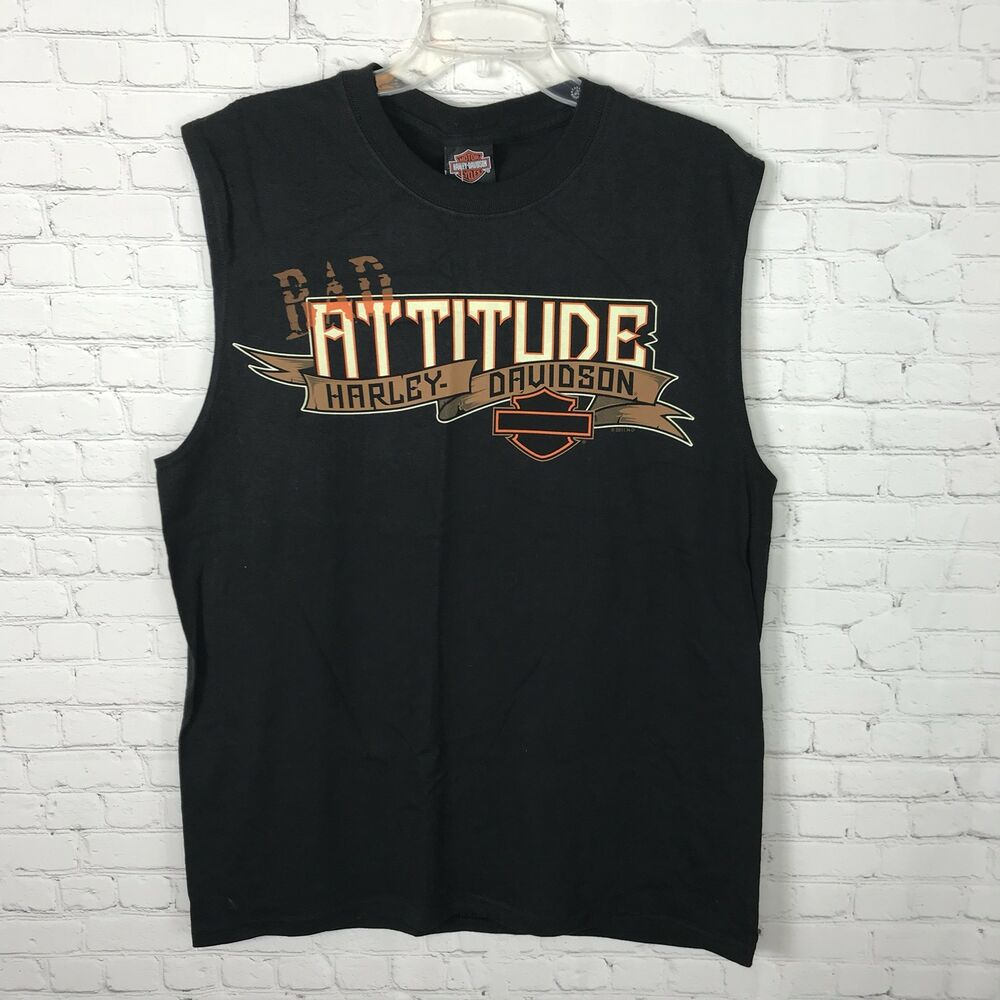 0e7afea5 Details about Harley Davidson Nwt Motorcycle Graphic Tee Mens Size Large  Tank Black