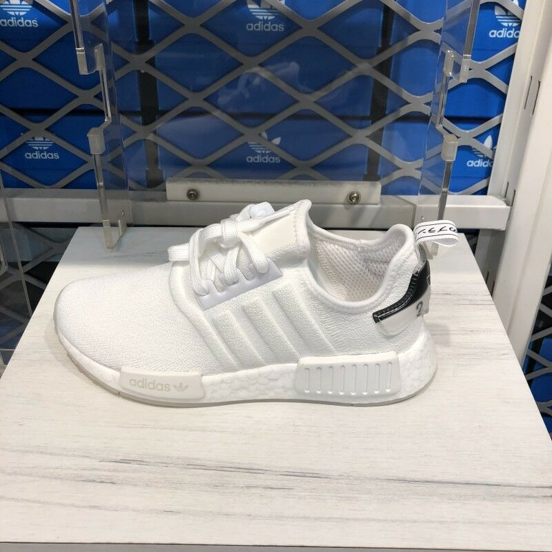 0c6204be071c6 Details about Adidas Originals NMD R1 Triple White Run Sneakers Shoes BD7746  Sz4-13