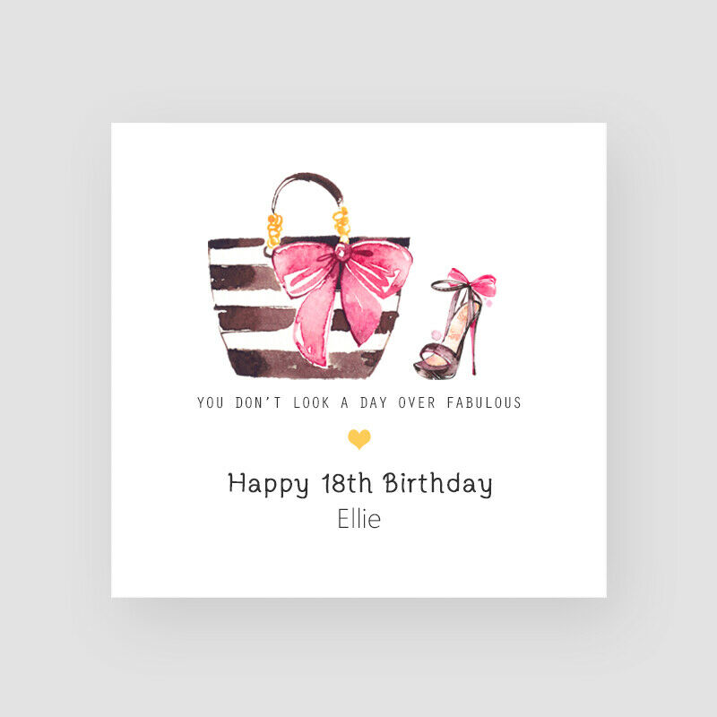 Details About Personalised Handmade Fashion 18th Birthday Card