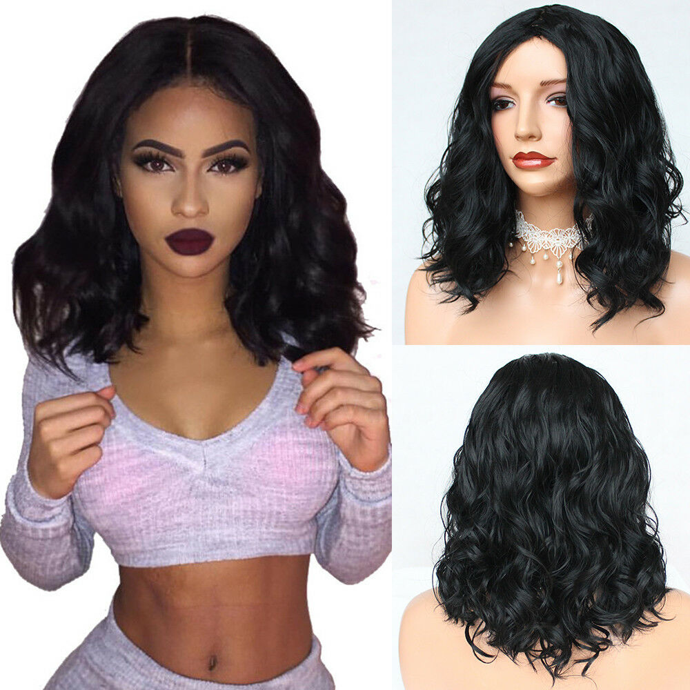 Details about Synthetic Short Bob Wig Wavy Full Black Women Natural Fashion  Wig Heat Resistant 8d8285992a