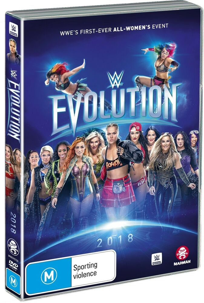 sale retailer 0406c 85673 Details about BRAND NEW WWE   Evolution 2018 (DVD) R4 All-Women Rousey