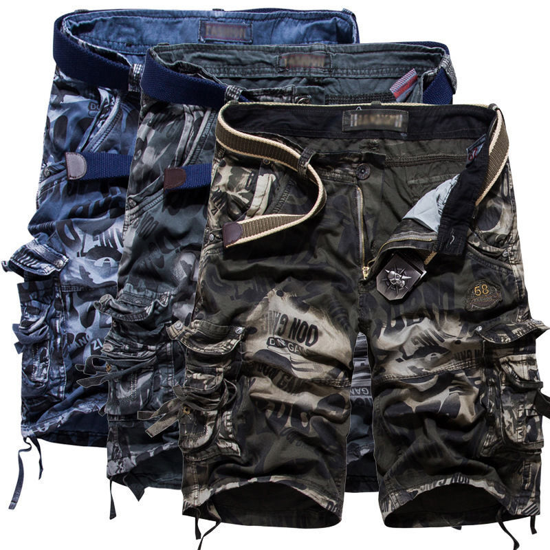 ab7b3672ccab Details about SUMMER MILITARY CARGO GYM TROUSERS MEN ARMY COMBAT HIKING WORK  SHORTS PANTS