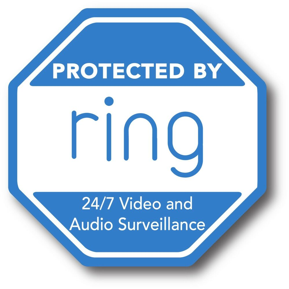 Ring Doorbell Sticker Video Security Camera Yard Sign