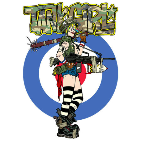 img-Funny T-Shirt, Tank Girl Camouflage, Ideal Gift/Present.