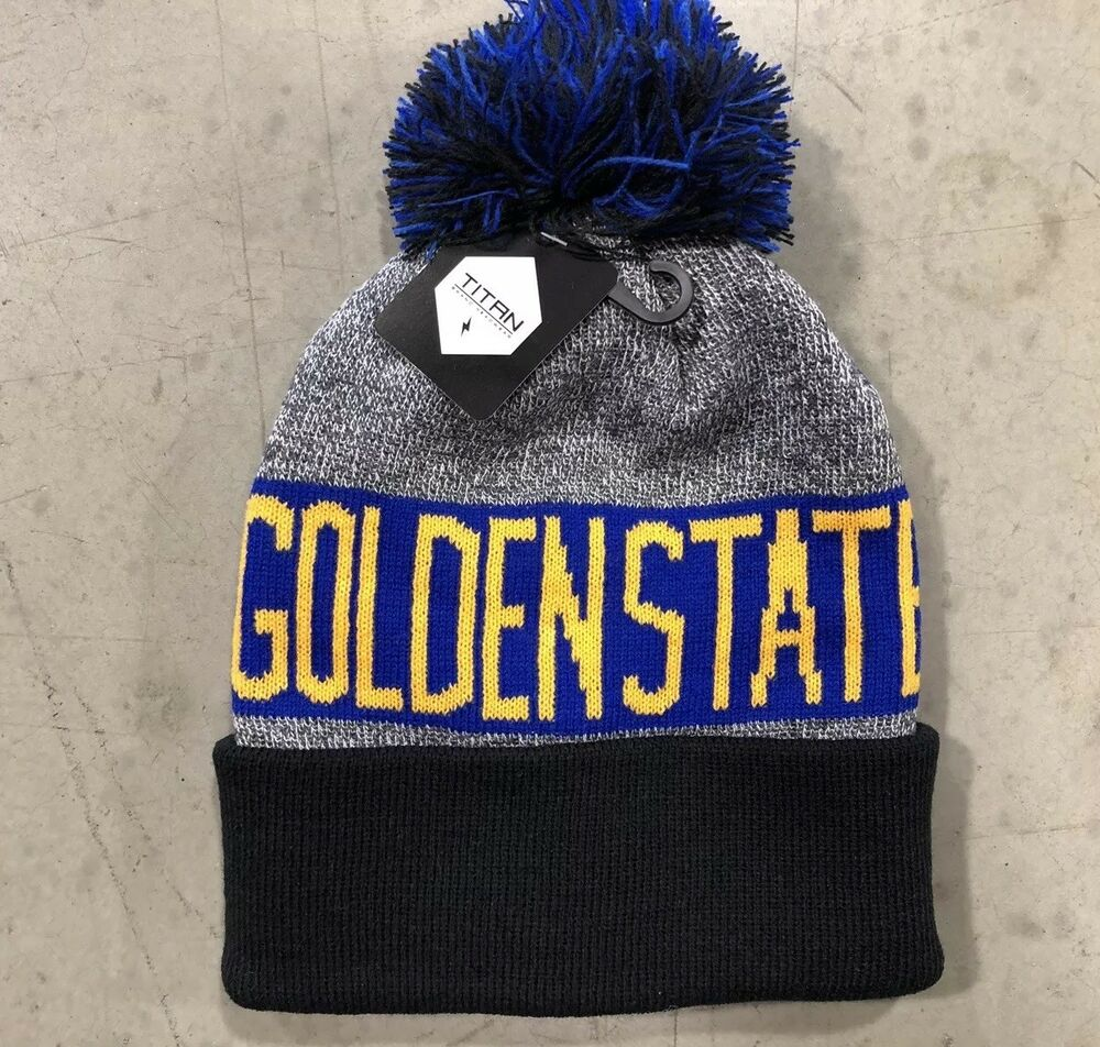 75598afd47 Details about NWT - Golden State Warriors Team Color Pom pompom Beanie winter  hat FREE S H !!