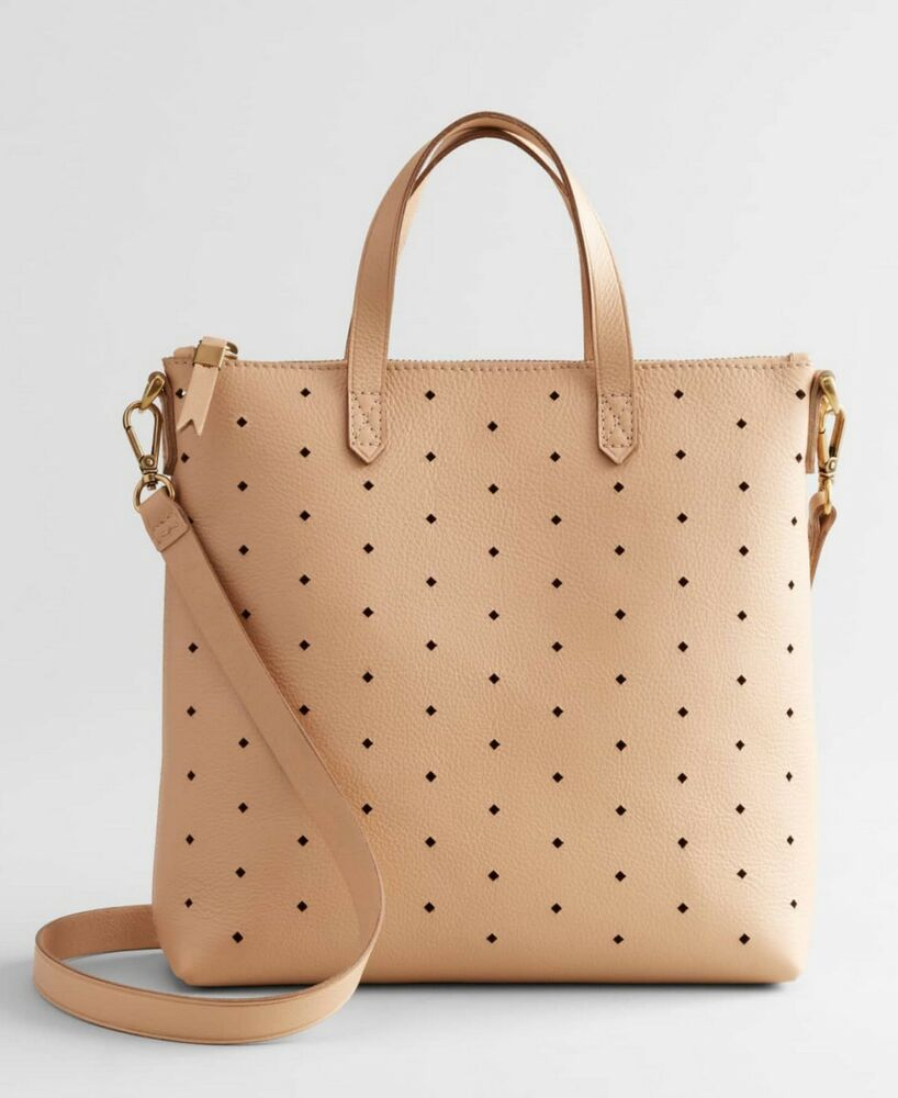 74b0f77b06da Details about NEW Madewell Mini Transport Perforated Leather Crossbody Bag