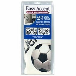 Easy Accent Soccer Peel and Stick Appliques Stickers Decals 2 Sheets 12''x19.5''