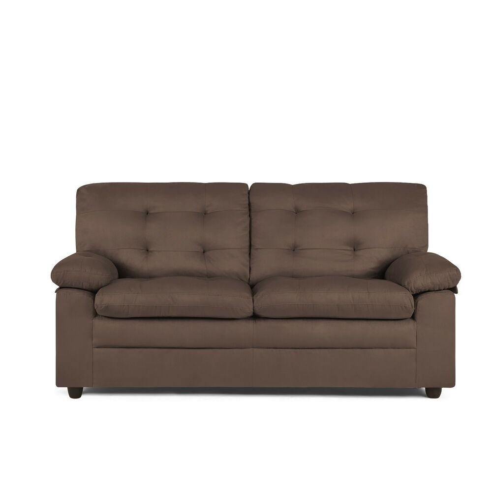 Upholstered Apartment Sofa Brown Couch Loveseat Comfortable Soft Furniture Ebay