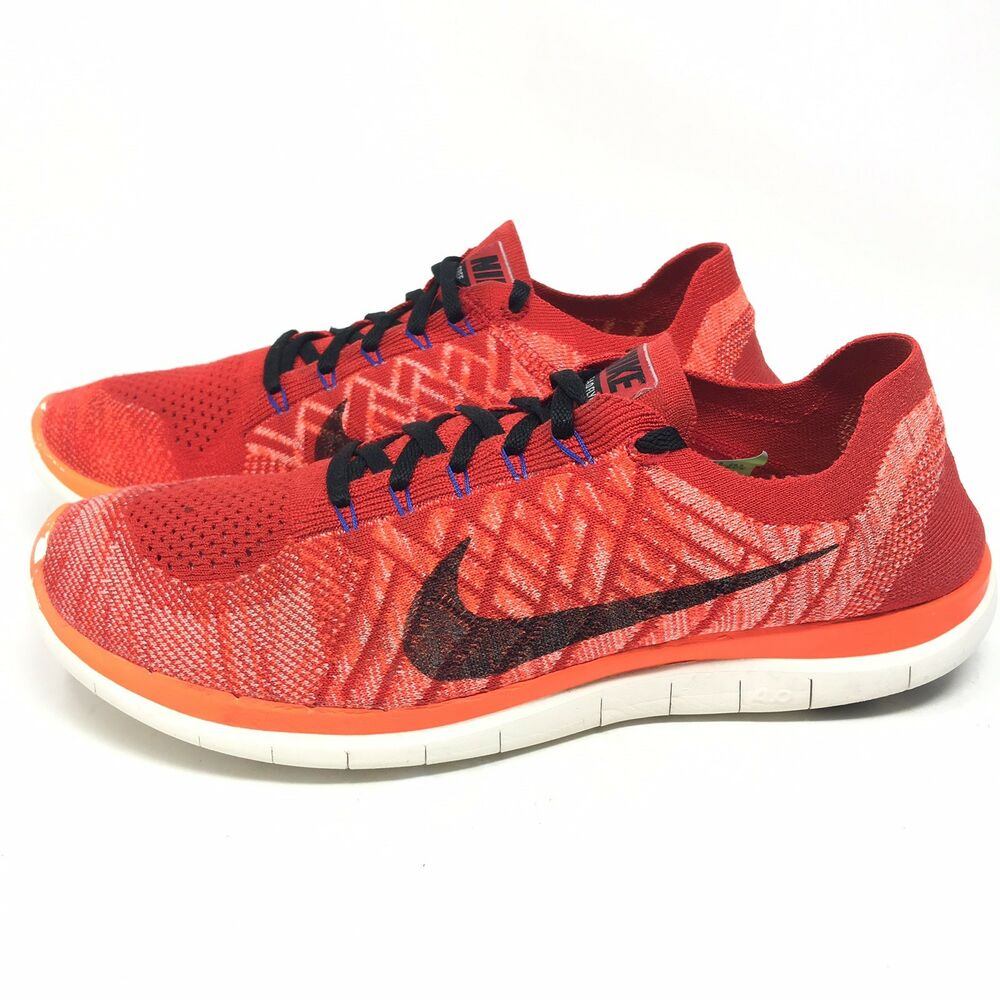 efe984da8e7 Details about Nike Free 4.0 Flyknit Running Shoes Sneakers Mens Trainer  Infrared Crimson 11.5