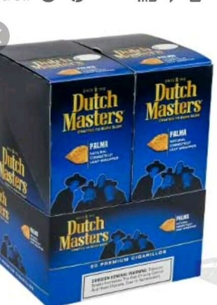 DUTCH MASTER PALMA. 3 PREMIUM CIGARLLOS PER PACK BOX OF 10 PKS 30 PCS TOTAL