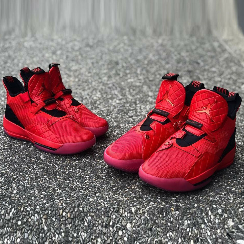 check out b003d f4ec2 Details about Nike Air Jordan XXXIII PF 33 University Red Black Men   Women Kids  Shoes Pick 1