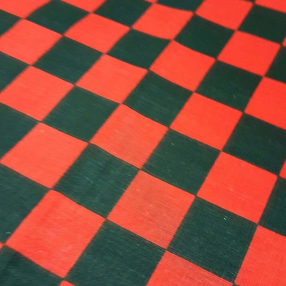 Black And Red 1 Checkered Fabric Poly Cotton 60 Racing
