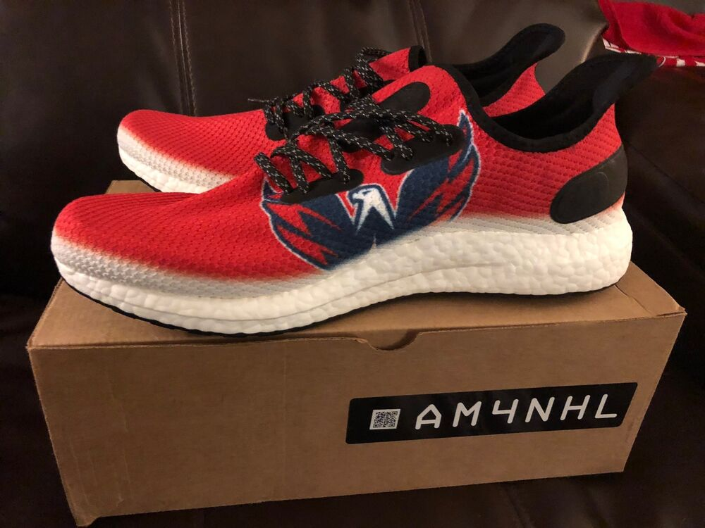bad6a6c5802 Details about adidas SPEEDFACTORY AM4NHL Washington Capitals Stanley Cup  Shoes - Size 13