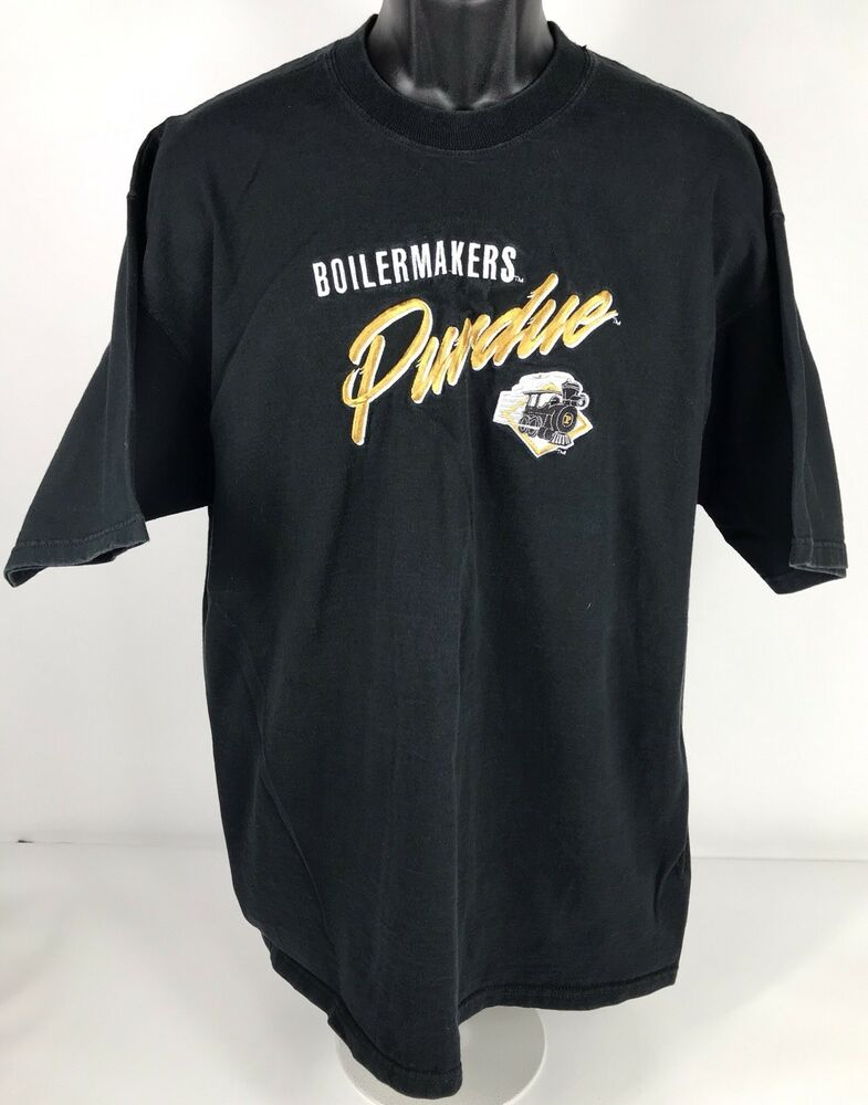 29834e7c Details about Vintage Crable Sportswear Purdue Boilermakers Embroidered T  Shirt XL