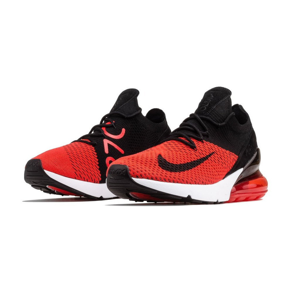 first rate fca6c 9f10c Details about SALE NIKE AIR MAX 270 FLYKNIT BRED AO1023 601 BLACK CHILE RED  CHALLENGE NEW
