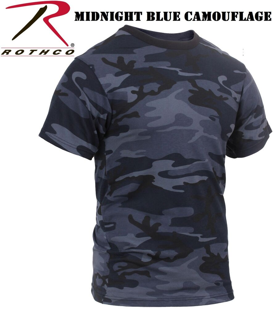 2399e6f6 Details about Midnight Blue Camouflage Tactical Military Short Sleeve Army Camo  T-Shirt 3830