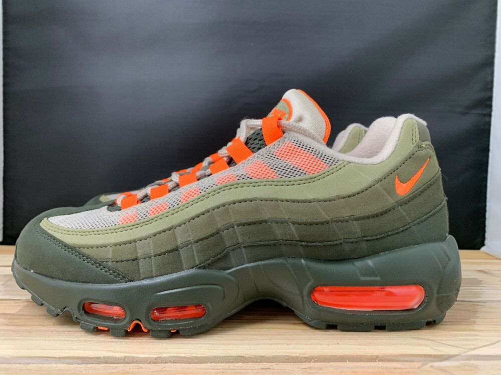 new products 91160 13cd8 Details about Nike Air Max 95 OG String Total Orange Neutral Olive Mens  AT2865-200 Size 7 New