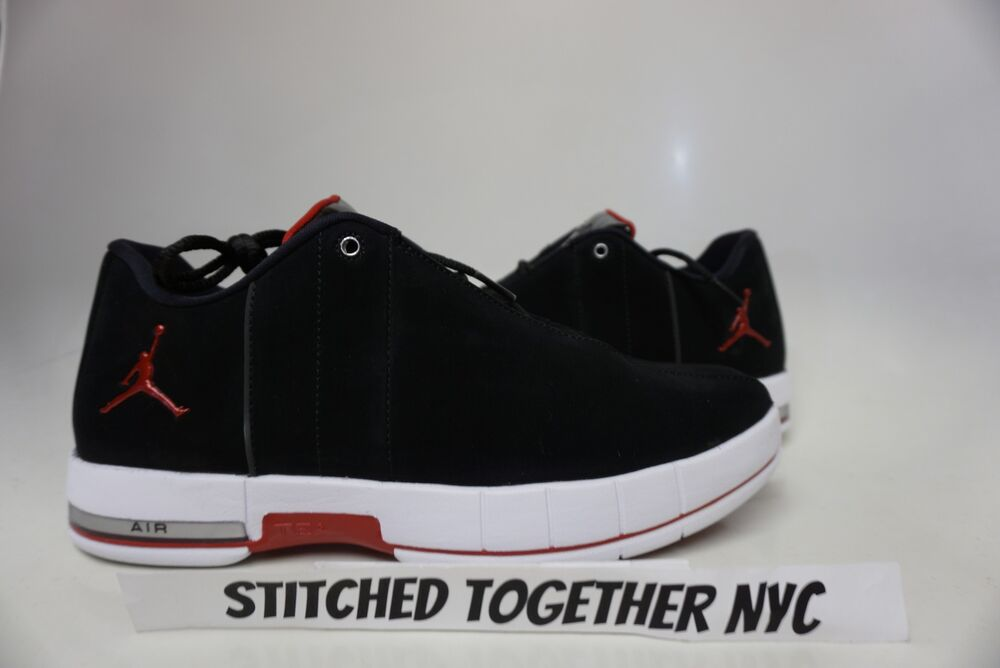 best sneakers e9058 46377 Details about (AO1696-001) MEN S AIR JORDAN TE 2 LOW BLACK GYM RED WHITE