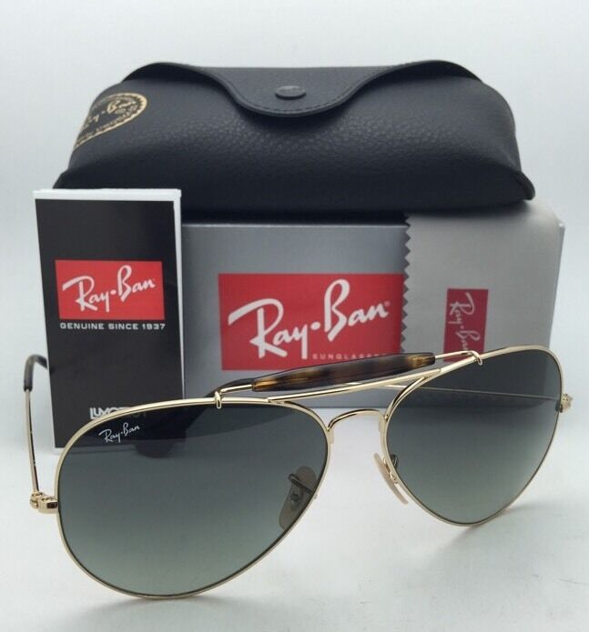 0ba329b6ad Details about RAY-BAN Sunglasses OUTDOORSMAN II RB 3029 181 71 Aviator Gold  Frame w  Grey Fade