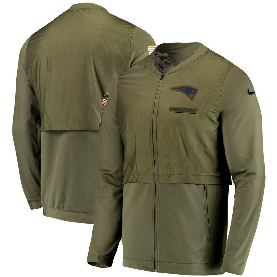 9dcc3703f Details about NEW ENGLAND PATRIOTS NIKE SALUTE TO SERVICE SIDELINE ELITE  HYBRID FULL-ZIP JKT
