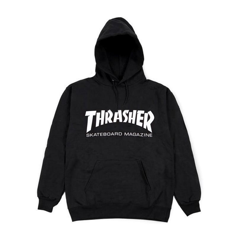 e2a2ff1f3fd2 Details about Thrasher SKATE MAG HOODIE Black White Graphic Pullover Men s  Sweatshirt