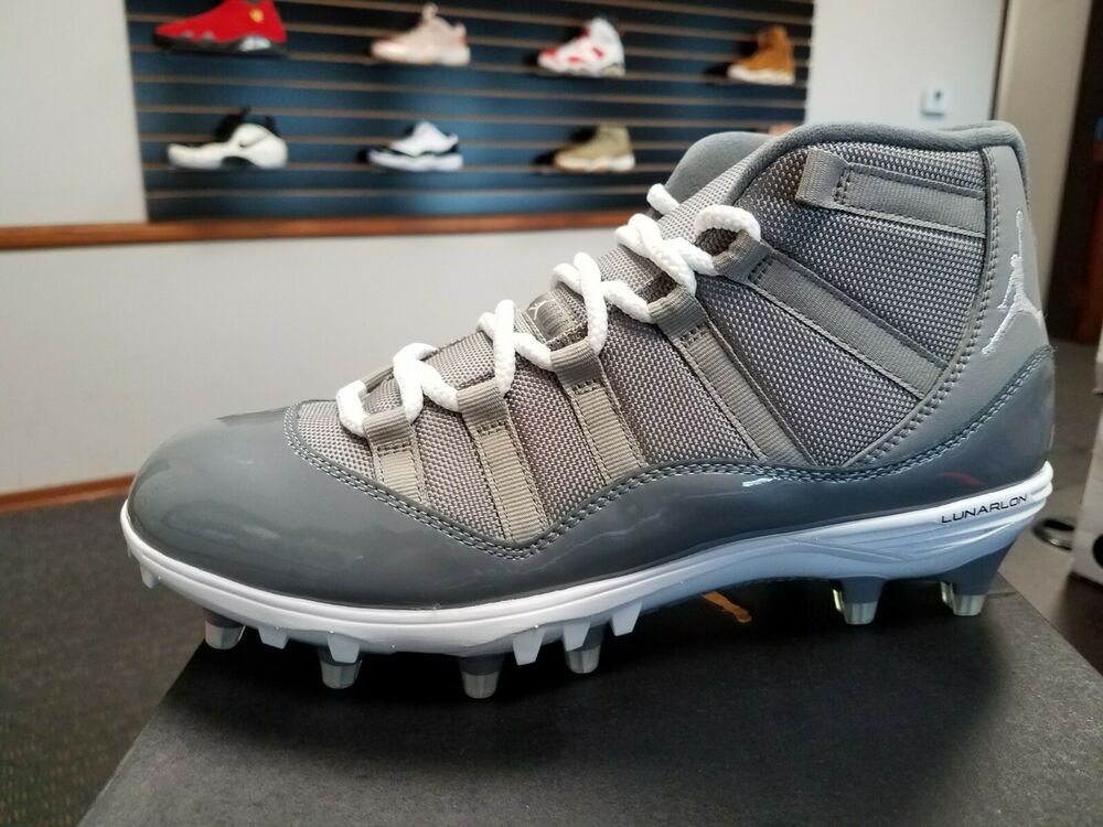 best service 035e0 249c5 Details about BRAND NEW MEN S AIR JORDAN 11 XI RETRO TD FOOTBALL CLEAT COO  GREY AO1561-003