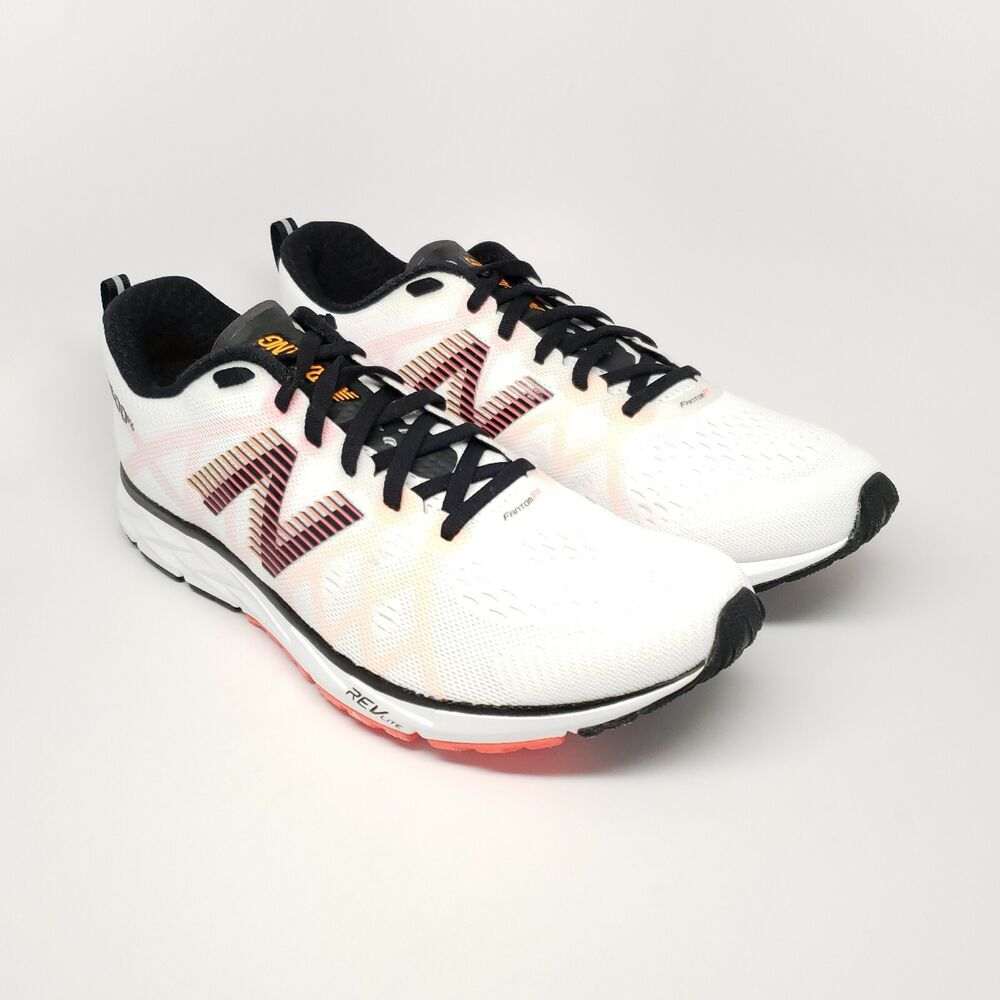 Details about New Balance 1500V4 Road Running Shoe in White Black Flame  Men s Size 9 0995e49501aa0