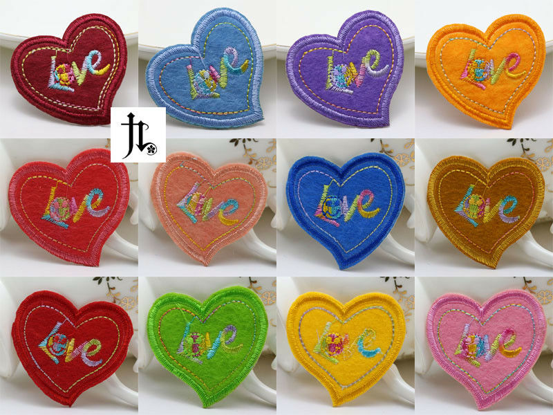 12pcs new embroidered cloth iron on patch sew motif applique love