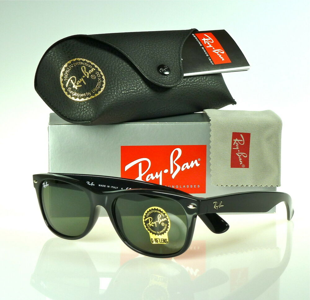 82d314ee342 Details about RAY-BAN NEW WAYFARER RB2132 901L 55MM BLACK   GREEN CLASSIC  G-15