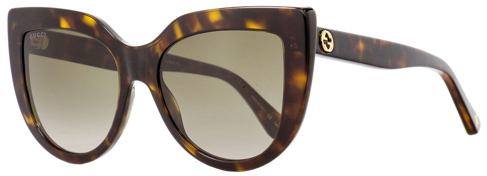 25414b2732d45 Gucci Cateye Sunglasses GG0164S 002 Havana 53mm 0164 889652088938