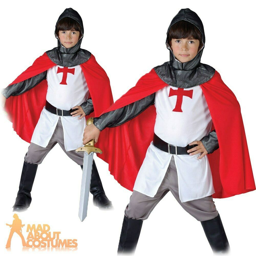233b8c88 Fancy Dress & Period Costume Boys Knight Costume Crusader Book Week Kids  Medieval Fancy Dress Outfit ...