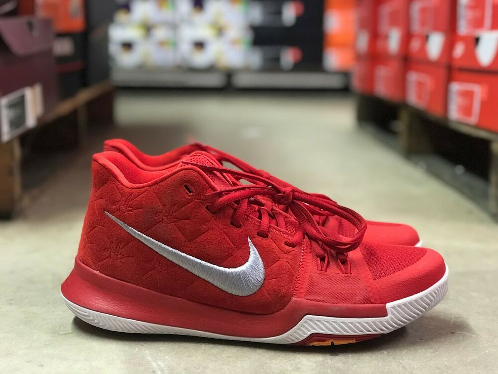 1e854616e678 Details about Nike Kyrie 3 University Red Mens Kyrie Irving Basketball Shoe  852395-601 Size 9