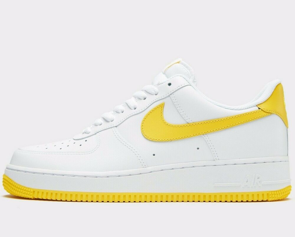 new arrival ff225 4c381 Details about Nike Air Force 1 '07 Low ® ( Men Size UK 10 EUR 45 ) White /  Maize Utility NBA