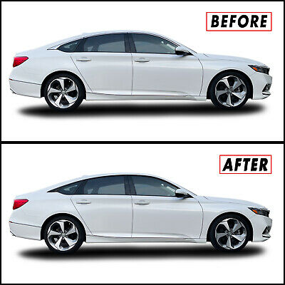 Chrome Delete Blackout Overlay for 2018-20 Honda Accord Sedan Window Trim