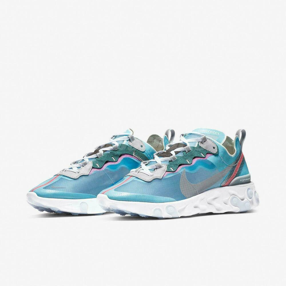 new style e2655 6baa3 Details about Nike React Element 87 Royal Tint 4-13 Blue Black Wolf Grey  Solar Red AQ1090-400