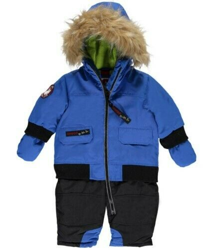 Canada Weather Gear Baby Boys' 1-Piece Snowsuit  BLUE  3/6 Months $110
