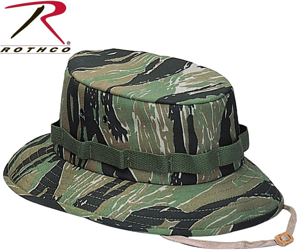 ba90d32b8f2 Details about kid adult tiger stripe camo military style boonie hat bucket  jungle hat jpg 1000x843
