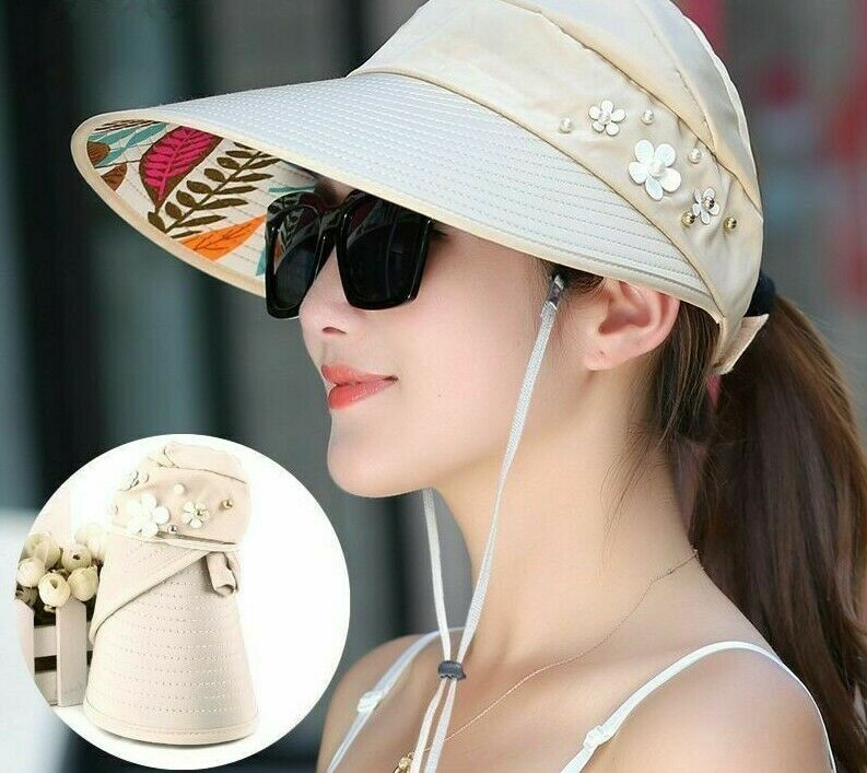 e14ece1d194 Women s Floral Pattern Silk Polyester Sun Hats Fashionable Casual Summer Hat  New