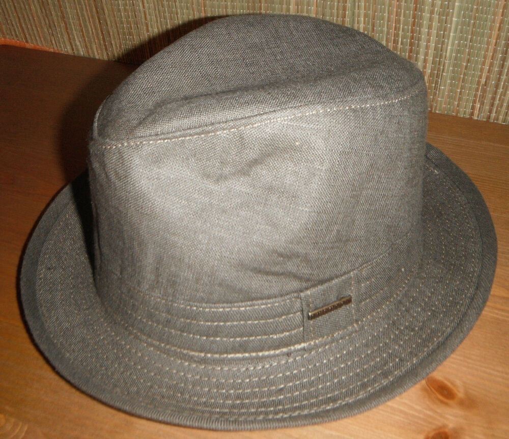 555c75a7b54 Details about NEW STETSON LINEN FEDORA Hat medium olive Made in USA