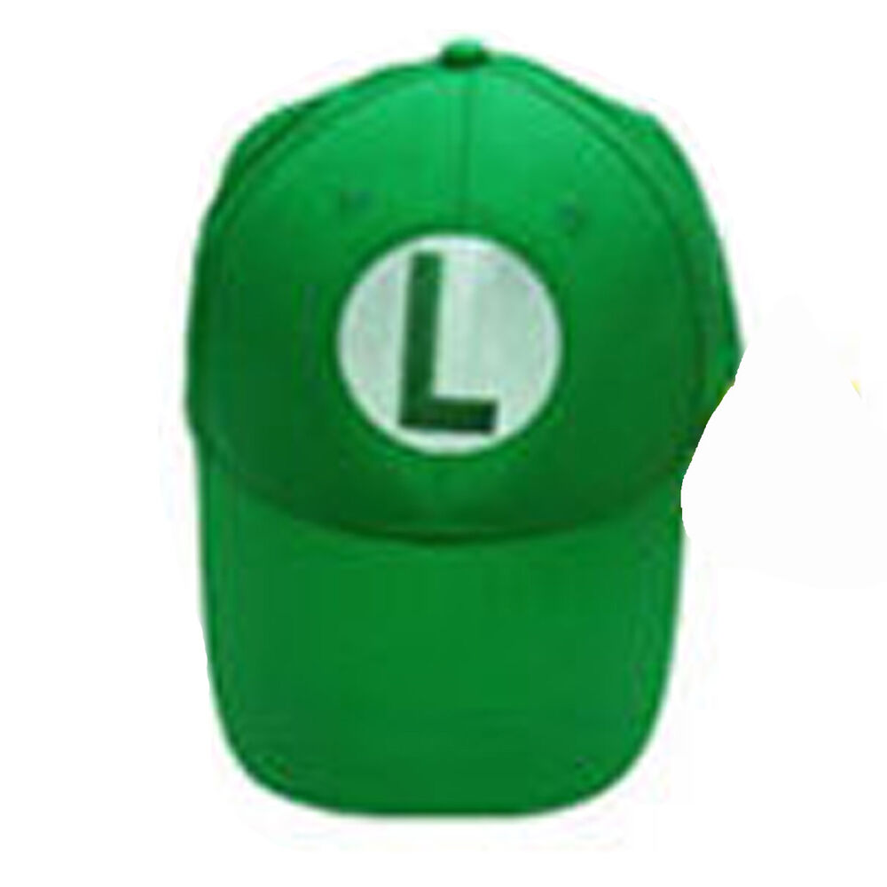 b829d7a56b799 Details about Super Mario Bros Luigi L Letter Cap Sport Baseball Hat Summer  Adjustable Green