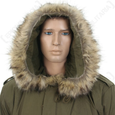 img-US M51 Parka Hood with Faux Fur - Olive Drab America Army Military Repro New