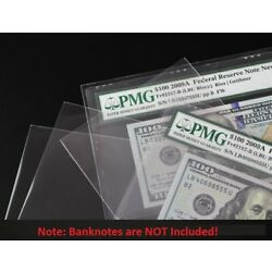 Kyпить 100 Paper Money Sleeve Self adhesive For Certified PMG Graded Banknote Holder на еВаy.соm