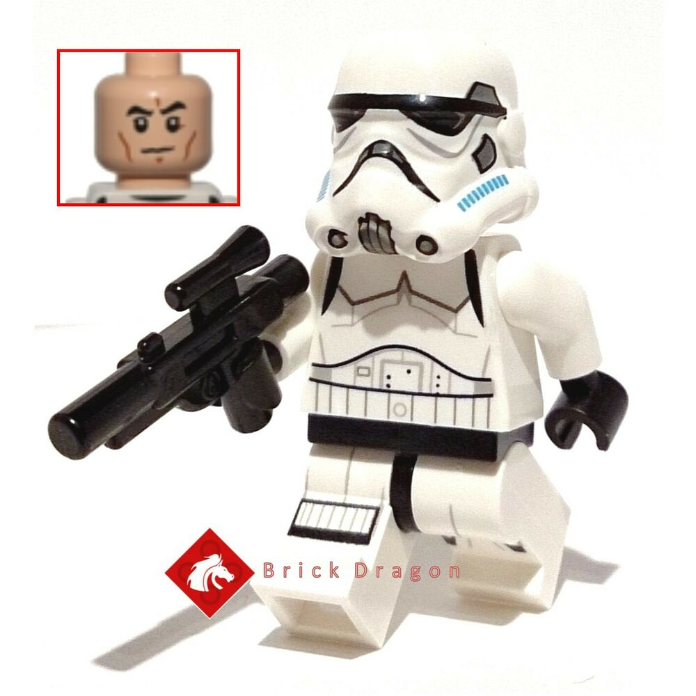 Lego Star Wars Stormtrooper Minifigure Frown Face New From Set