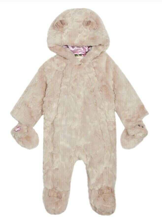 22e637fdc Ted Baker Baby girls  natural faux fur snowsuit Age 6-9 Month