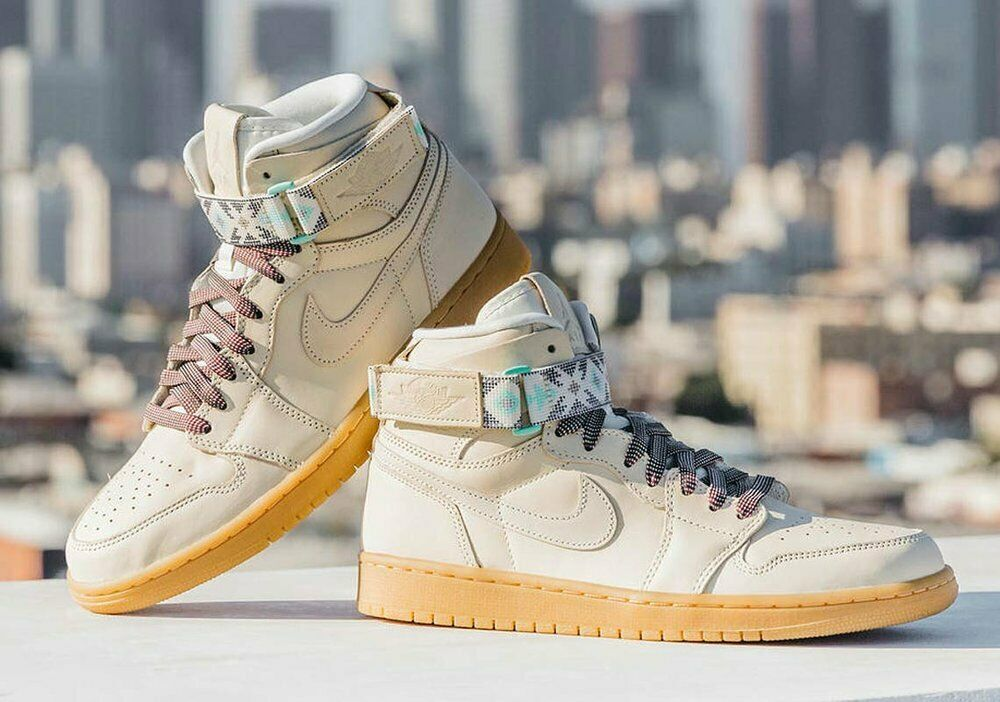 f3cc815f124 Details about New Nike Air Jordan 1 Retro Hi Strap N7 Size 8 Light Cream  Shoes AR4410 207. Popular Item
