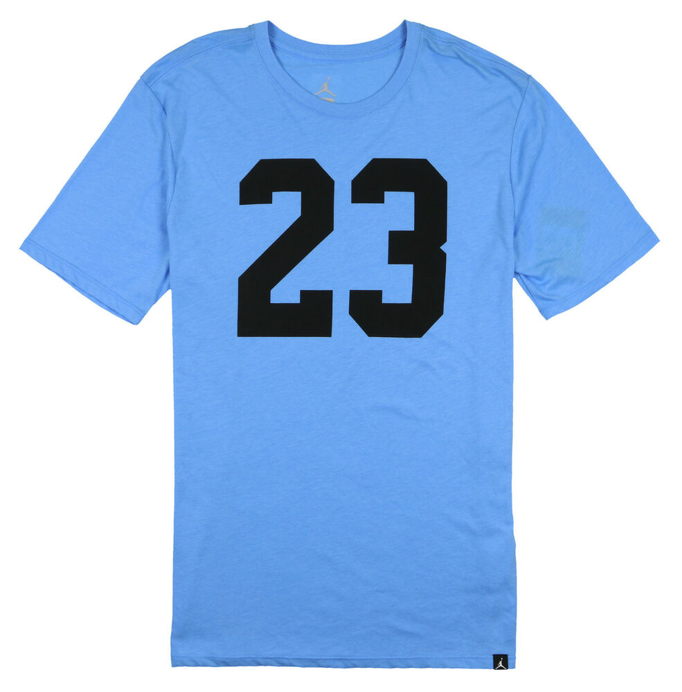 d2e77392215406 Details about JORDAN Tri-Blend Iconic 23 T-Shirt sz L Large University Blue  Retro Flight