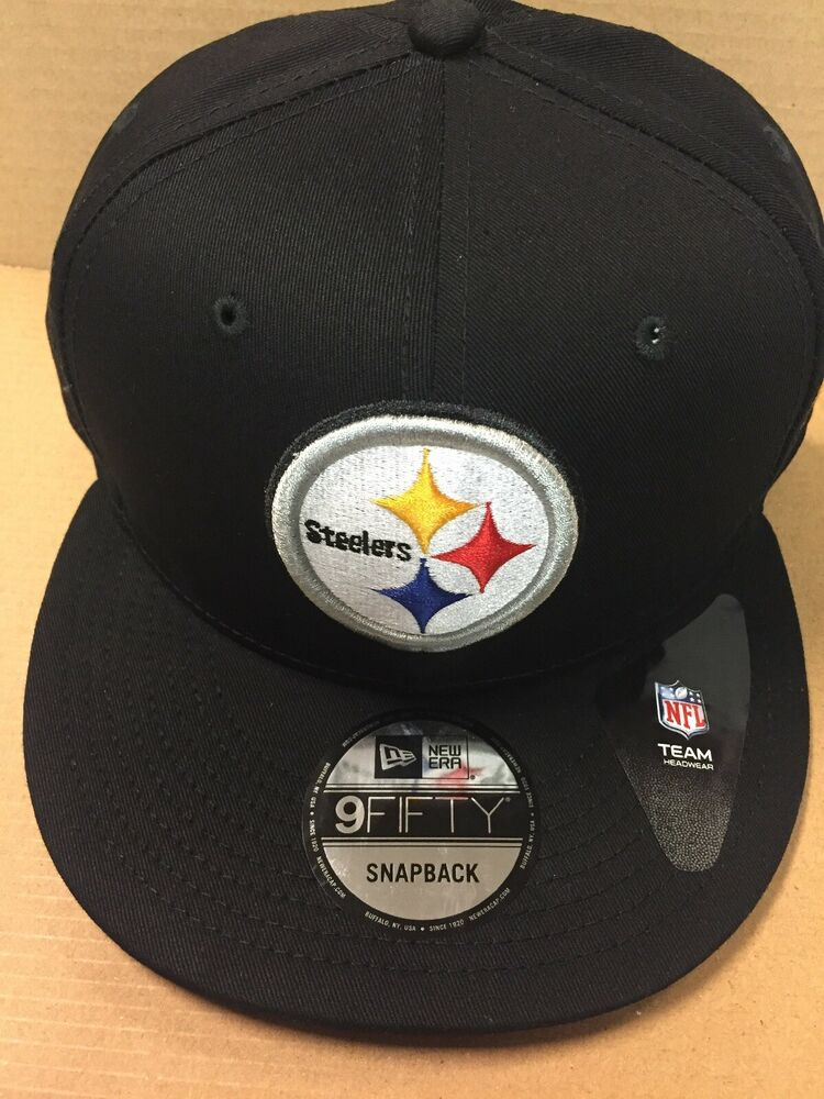 78de04107 Details about New Era 9Fifty NFL Pittsburgh Steelers Snapback Hat Flat Brim  Cap NWT